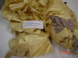 Waste coming from kevlar fabrics with paper patterns
